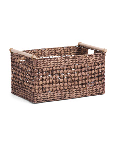 Large Butterfly Weave Natural Storage Bin