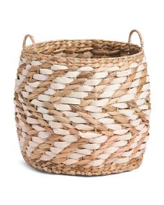 Small Chevron Weave Natural Storage Basket