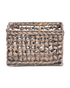 Small Butterfly Weave Natural Storage Bin