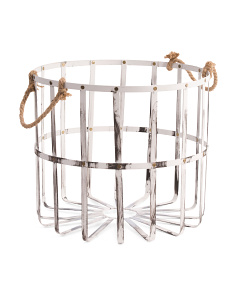 Round Studded Metal Storage Bin