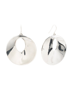 Made In Israel Sterling Silver Mobius Earrings