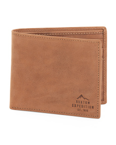 Rfid Slimfold Leather Wallet