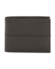 Pebbled Slim Leather Billfold
