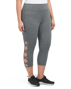 Plus Active Lattice Capris