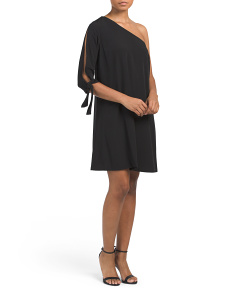 One Shoulder Tie Dress