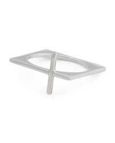 Made In Mexico Sterling Silver East West Cross Ring