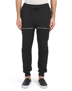 French Terry Moto Joggers