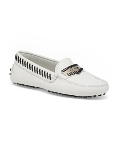 Made In Italy Leather Driving Moccasins