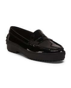 Made In Italy Patent Leather Driving Moccasins