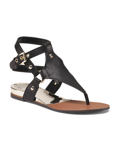 Gladiator Ankle Strap Leather Sandals