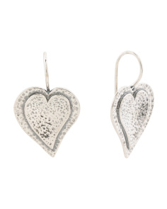 Made In Israel Sterling Silver Heart Earrings