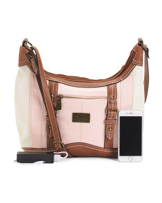 Crockett Satchel With Charging Powerbank