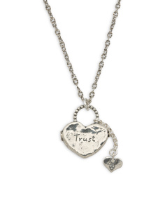 Made In Israel Sterling Silver And Heart Locket Necklace