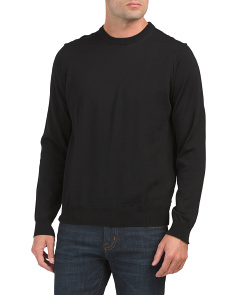 Made In Italy Merino Wool Crew Neck Sweater