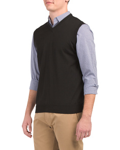 Made In Italy Pull Over Merino Wool Vest