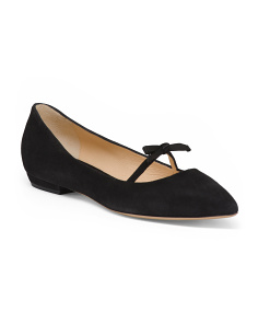 Made In Italy Pointy Toe Suede Flats