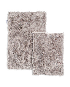 Set Of 2 Montecarlo Chenille Butter Bath Rugs