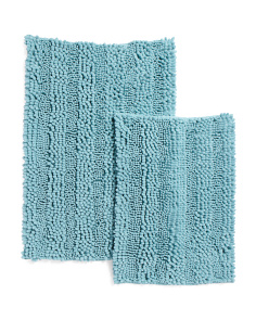 Set Of 2 Memory Foam Bath Rugs