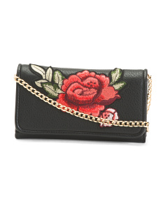 Rose Embroidered Crossbody