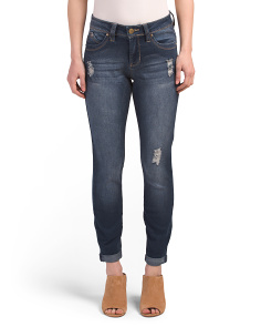 Booty Enhancing Ankle Roll Jeans