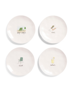 4pk Outdoor Bbq Salad Plates