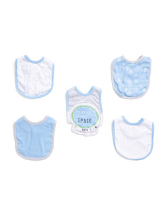 Baby Boys 5pk Outerspace Bibs