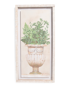 16x32 Potted Fern Shadowbox Wall Art