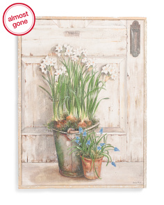 18x24 Farmhouse Florals Canvas Wall Art
