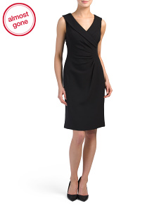 Crepe Side Ruched Dress