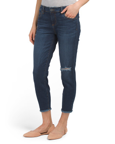 Donna Cropped Skinny Leg Jeans