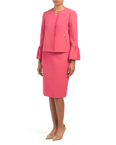 Bell Sleeve Skirt Suit Set