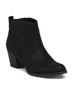 Textured Ankle Booties