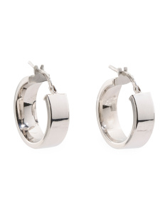Made In Italy Sterling Silver Chubby Hoop Earrings