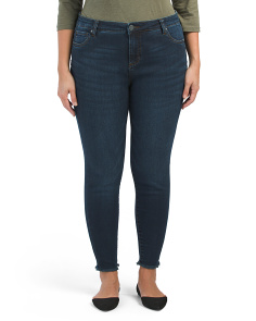 Plus High Rise Skinny Ankle Jeans
