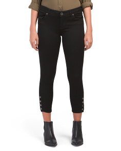 Petite Ankle Skinny Jeans With Snaps