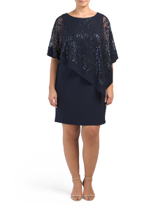 Plus Lace Poncho Dress