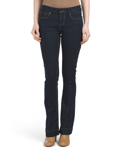 Pintuck Micro Flare Jeans