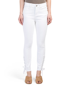 High Rise Lace Jeans
