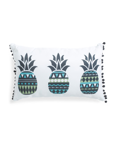 14x22 Indoor Outdoor Pineapple Pillow