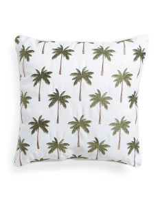 20x20 Indoor Outdoor Palm Tree Pillow