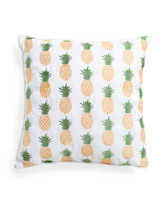 20x20 Indoor Outdoor Pineapple Pillow