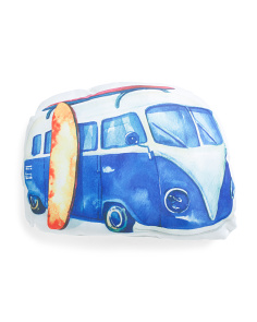 14x18 Indoor Outdoor Beach Bus Shaped Pillow