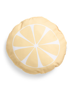 Indoor Outdoor Lemon Shaped Pillow