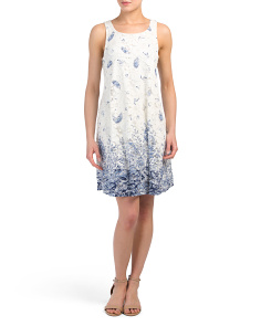 Printed Lace Sleeveless Dress