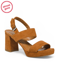 Made In Italy Platform Suede Sandals