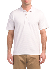Stripe Textured Polo