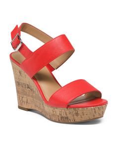 2 Band High Cork Wedges