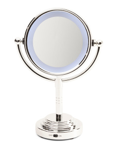 1x And 5x Standing Lighted Mirror