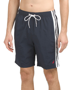 Solid Swim Shorts With Side Panel