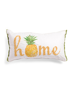 Made In India 16x30 Pineapple Pillow